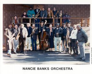 Nancie Banks Orchestra the day of recording Bert's Blues
